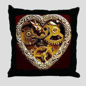 Clockwork Heart 10x10 Throw Pillow