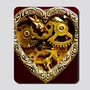 Clockwork Heart 10x10 Mousepad