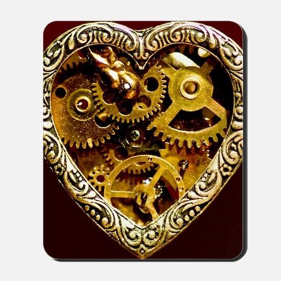 Clockwork Heart 10x10 Mousepad
