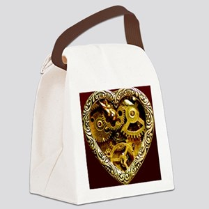 Clockwork Heart 10x10 Canvas Lunch Bag