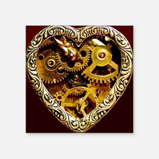 "Clockwork Heart 10x10 Square Sticker 3"" x 3"""