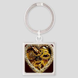 Clockwork Heart 10x10 Square Keychain