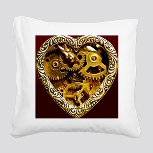 Clockwork Heart 10x10 Square Canvas Pillow