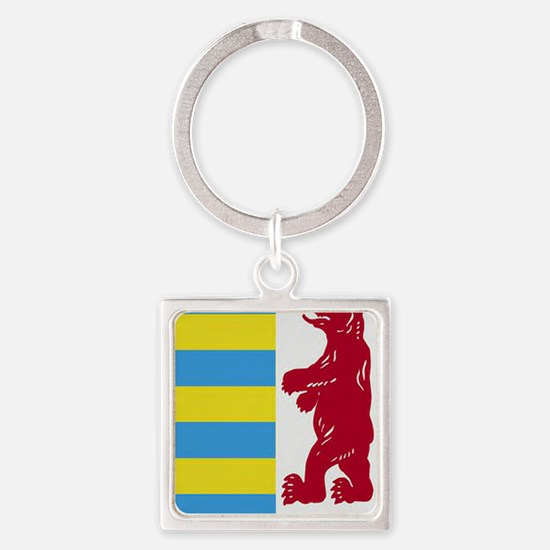 Rusyn Emblem (car flag) Square Keychain