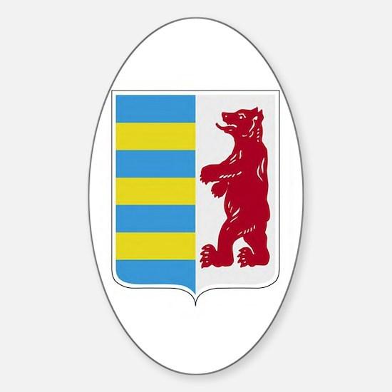 Rusyn Emblem (car flag) Sticker (Oval)