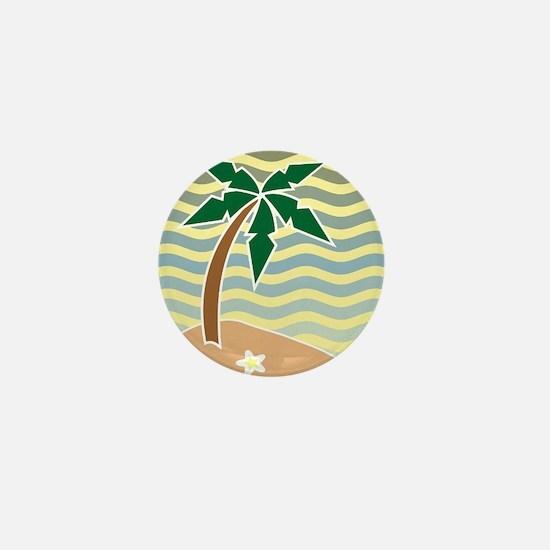 Palm Tree Graphic Mini Button