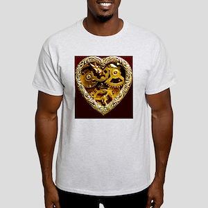 steampunk clockwork heart iphone cas Light T-Shirt