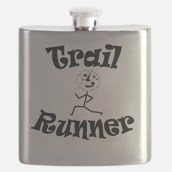 Trail Runner Stick Person Flask