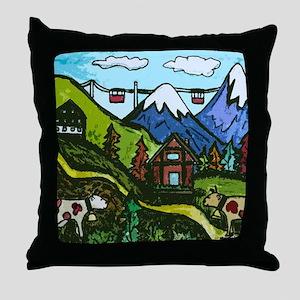 Swiss Cow Fun Throw Pillow