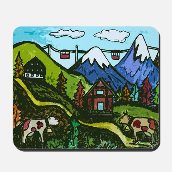 Swiss Cow Fun Mousepad