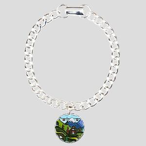 Swiss Cow Fun Charm Bracelet, One Charm