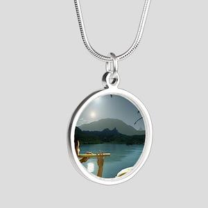 ParallelNileCharmerMousepad Silver Round Necklace