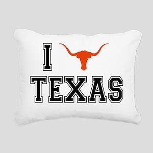 I heart Texas Rectangular Canvas Pillow