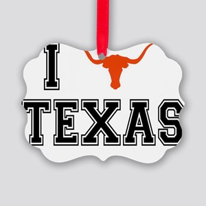 I heart Texas Picture Ornament