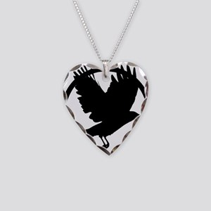 Krow Necklace Heart Charm