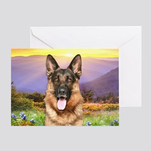 German shepherd dog greeting cards cafepress meadowoval greeting card m4hsunfo
