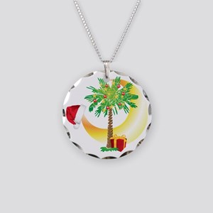 Christmas SC Palmetto Moon F Necklace Circle Charm