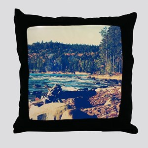 Rocky Shores of Lake Superior Throw Pillow