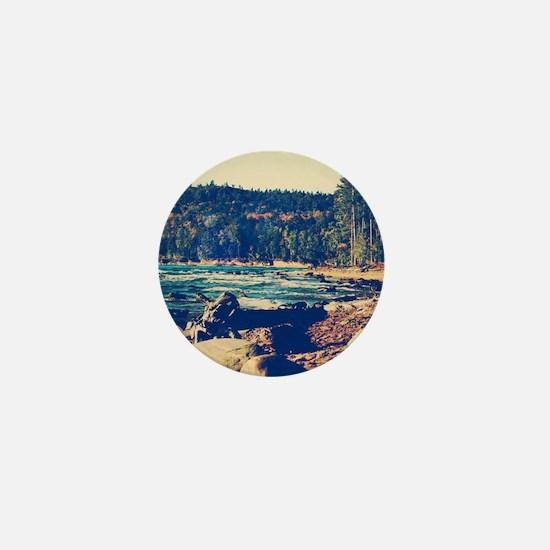 Rocky Shores of Lake Superior Mini Button