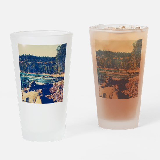 Rocky Shores of Lake Superior Drinking Glass