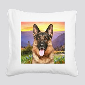meadow(button) Square Canvas Pillow