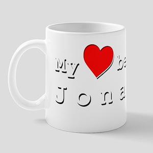 My Heart Belongs To Jonathon Mug