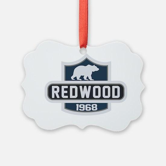 Redwood Nature Badge Ornament