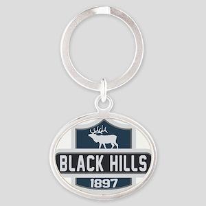 Black Hills Nature Badge Oval Keychain