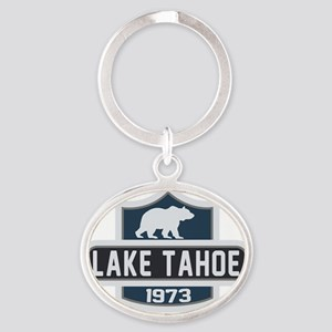 Lake Tahoe Nature Badge Oval Keychain