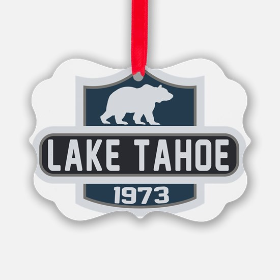 Lake Tahoe Nature Badge Ornament
