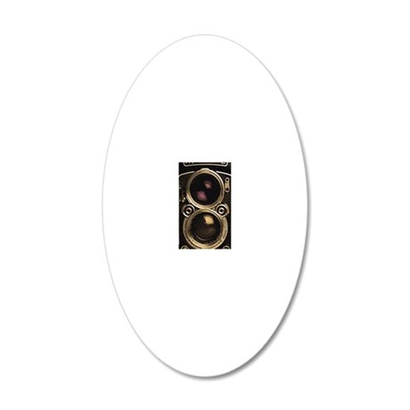 STEAMPUNK IPHONE CAMERA 20x12 Oval Wall Decal