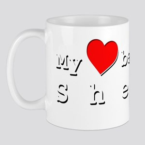 My Heart Belongs To Sheila Mug