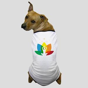 Yoga pet apparel cafepress lotus flower and yoga pose dog t shirt mightylinksfo