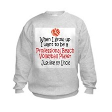 WIGU Pro Beach Volleyball Uncle Kids Sweatshirt