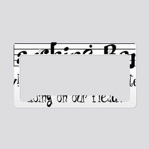 Marching Band License Plate Holder
