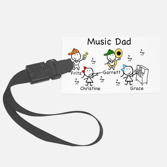 Music Dad Luggage Tag