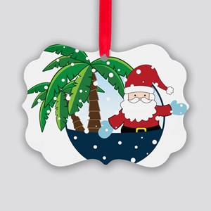 Christmas In Paradise Picture Ornament
