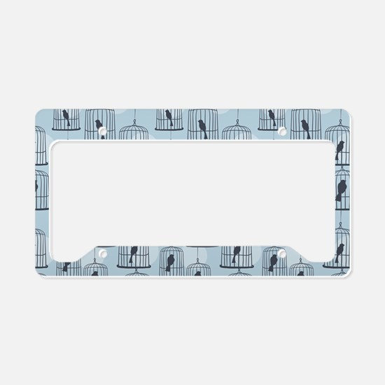 BirdCage_Blue_Large License Plate Holder