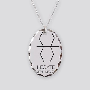 Hecate Asterian astrology Necklace Oval Charm
