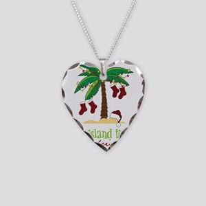 On Island Time Necklace Heart Charm