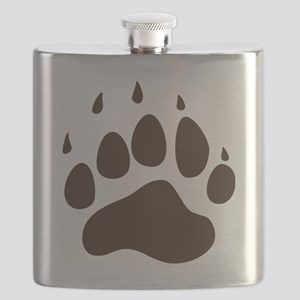 Brown Paw Print  Flask