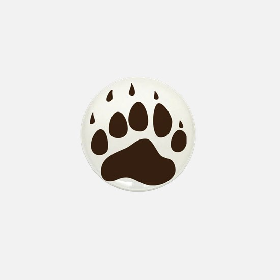 Brown Paw Print png Mini Button