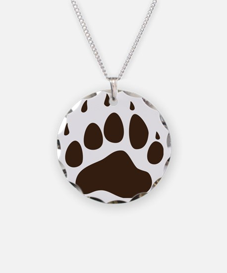 Brown Paw Print png Necklace