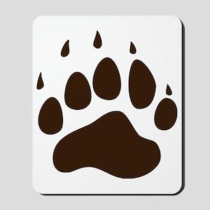 Brown Paw Print  Mousepad
