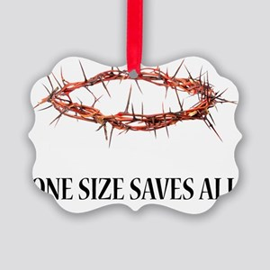 Crown of Thorns White T Picture Ornament