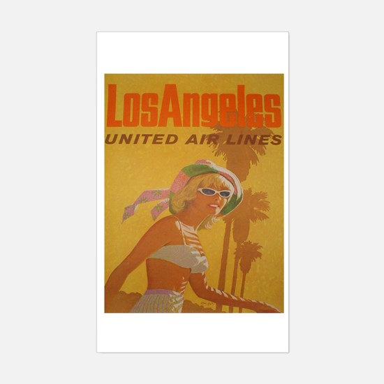 LOS ANGELES VINTAGE ADVERT Rectangle Decal