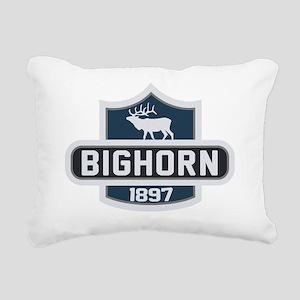 Bighorn Nature Badge Rectangular Canvas Pillow
