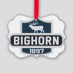 Bighorn Nature Badge Picture Ornament