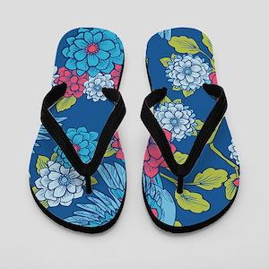 BirdRomantic_Blue_Large Flip Flops
