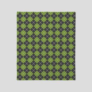 Argyle_Green1_Large Throw Blanket